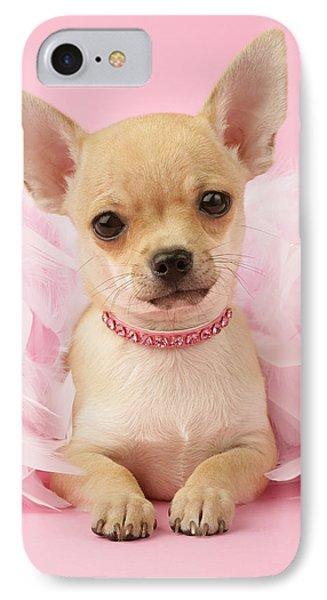 Chihuahua With Feather Boa IPhone Case