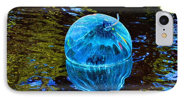 Artsy Blue Glass Float IPhone Case by Luther Fine Art