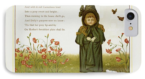 Child Among Flowers IPhone Case by British Library