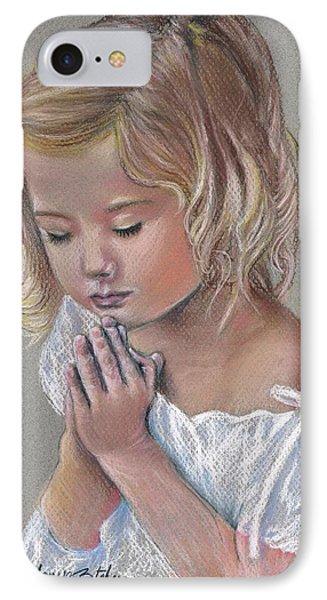 Child In Prayer Phone Case by Tonya Butcher