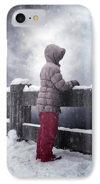 Child In Snow IPhone Case