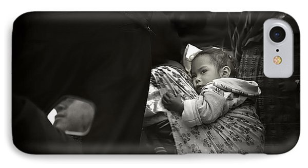 Child  On A Journey Phone Case by Tom Bell