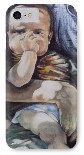 Child Under A Shade Of An Olive Tree Phone Case by Alessandra Andrisani