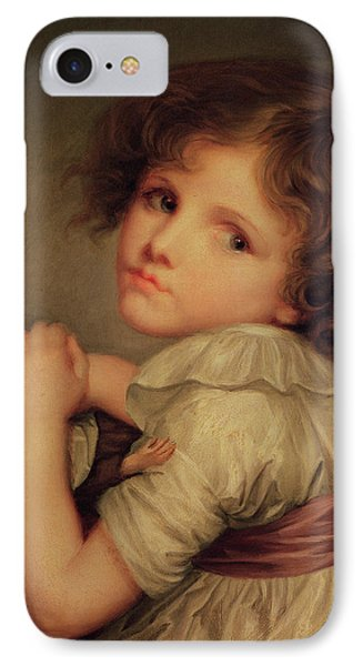 Child With A Doll Oil On Canvas IPhone Case