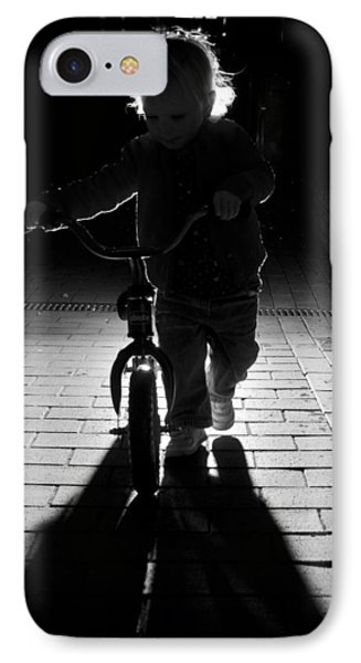 Child With Bike IPhone Case by David Isaacson