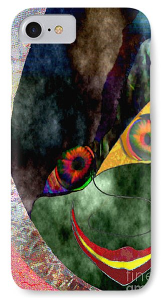 IPhone Case featuring the digital art Child With Bright Shadow - Kind Mit Lichtem Schatten by Mojo Mendiola