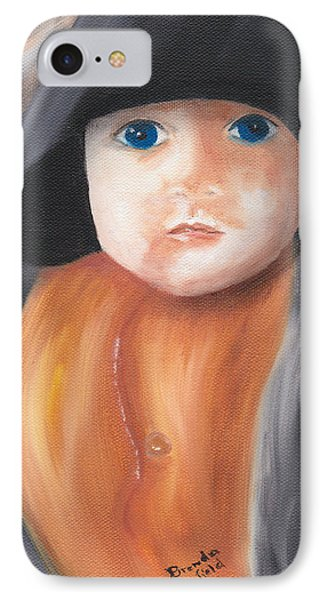 Child With Hood IPhone Case by Brenda Bonfield