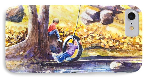 Children And The  Old Tire Swing IPhone Case by Reveille Kennedy