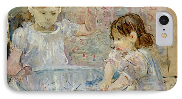 Children At The Basin Phone Case by Berthe Morisot