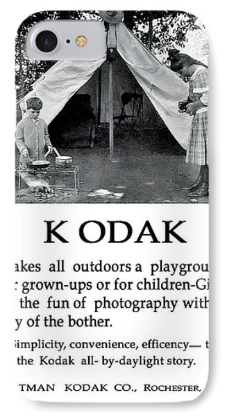 Children  Camping. Circa 1913. IPhone Case by Unknown Photographer
