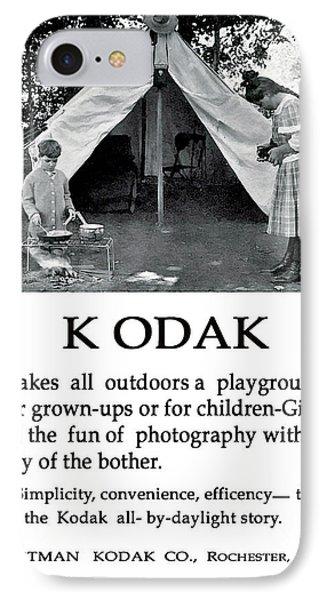 Children  Camping. Circa 1913. IPhone Case
