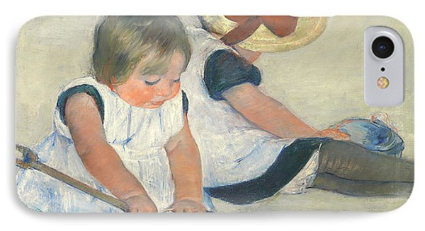 Children Playing On The Beach IPhone Case by Mary Stevenson Cassatt