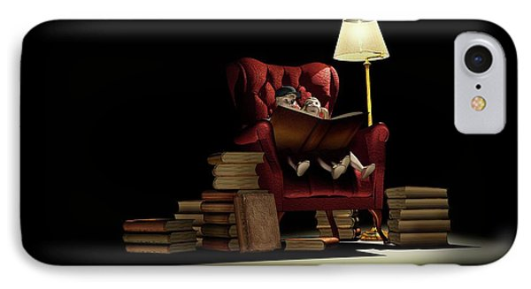 Children Reading At Night IPhone Case