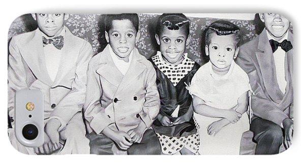 Children Sitting On Sofa IPhone Case