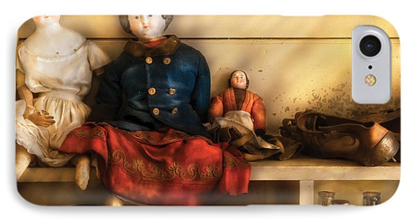 Children - Toys - Assorted Dolls IPhone Case by Mike Savad