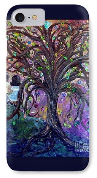 Children Under The Fantasy Tree With Jackie Joyner-kersee Phone Case by Eloise Schneider