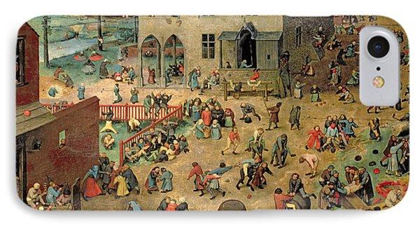 Childrens Games Kinderspiele, 1560 Oil On Panel IPhone Case