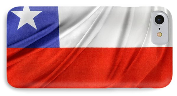 Chile Flag  Phone Case by Les Cunliffe