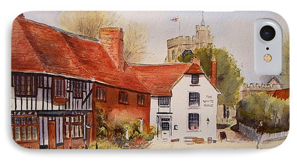 IPhone Case featuring the painting Chilham Kent by Beatrice Cloake