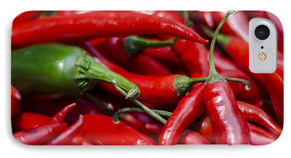 Chili Peppers At The Market Phone Case by Heather Applegate