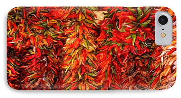 Chili Ristras Abstract IPhone Case