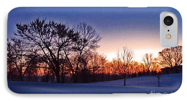 Chilly Beautiful Sunrise Phone Case by Minding My  Visions by Adri and Ray