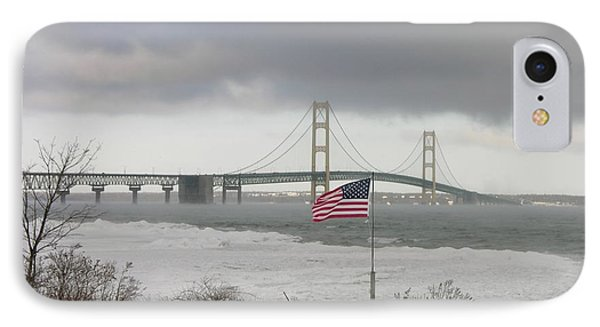 Chilly Mackinac Bridge IPhone Case