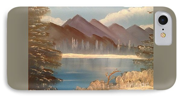 Chilly Mountain Lake Phone Case by Tim Blankenship