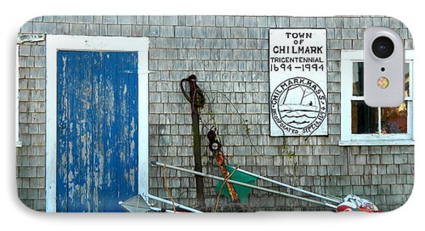 Chilmark Dock Shack IPhone Case by Kathy Barney
