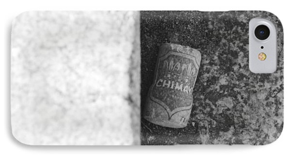 Chimay Wine Cork In Black And White Phone Case by Rob Hans