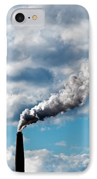 Chimney Exhaust Waste Amount Of Co2 Into The Atmosphere Phone Case by Ulrich Schade