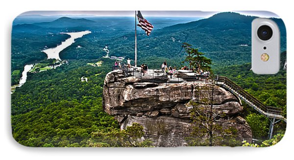IPhone Case featuring the photograph Chimney Rock At Lake Lure by Alex Grichenko