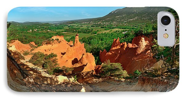 Chimney Rock Formations, Rustrel IPhone Case by Panoramic Images