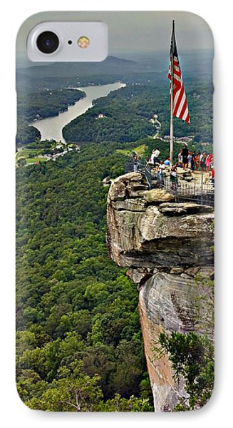 IPhone Case featuring the photograph Chimney Rock Overlook by Alex Grichenko