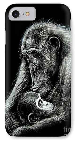 Chimp Love Phone Case by Anastasis  Anastasi