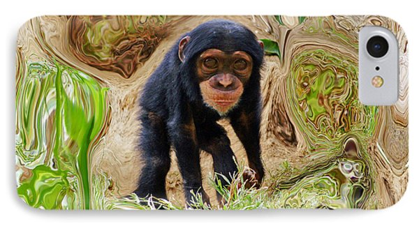 Chimpanzee IPhone Case by Daniele Smith