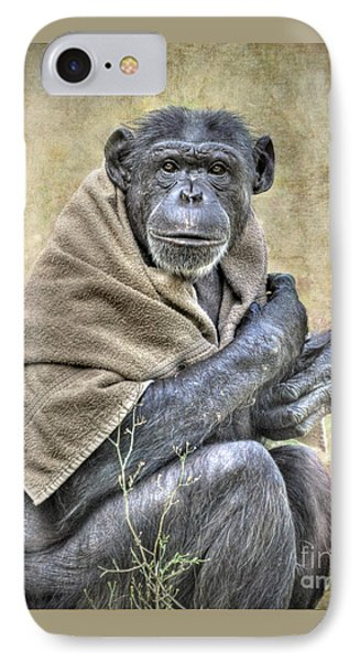 IPhone Case featuring the photograph Chimpanzee by Savannah Gibbs
