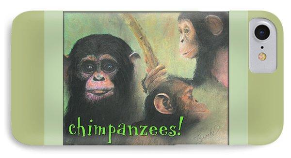 IPhone Case featuring the pastel Chimpanzees - Art 4 Kids by Brooks Garten Hauschild