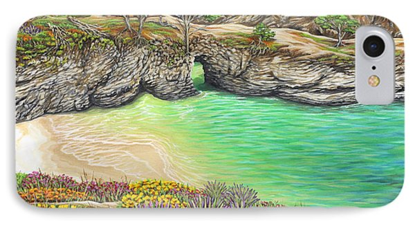 IPhone Case featuring the painting China Cove Paradise by Jane Girardot