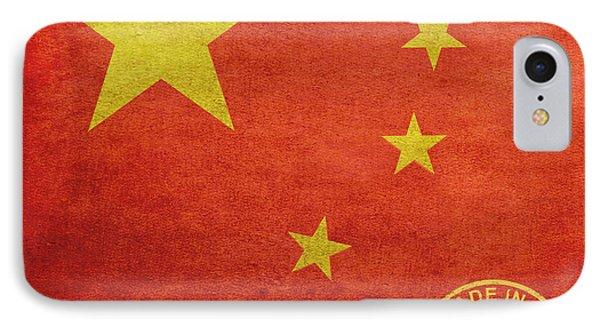 China Flag Made In The Usa Phone Case by Tony Rubino
