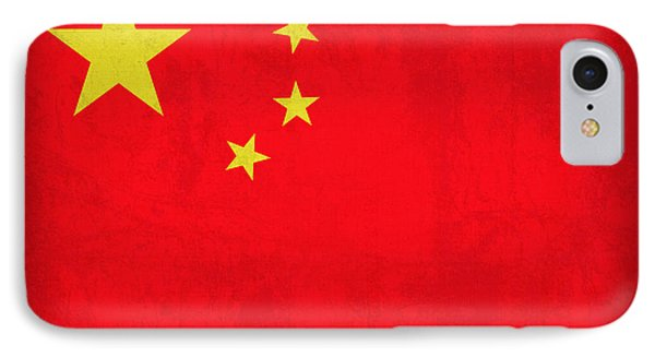 China Flag Vintage Distressed Finish IPhone Case by Design Turnpike