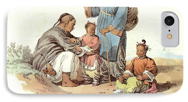 China Peasant Family, 1797 IPhone Case by Granger