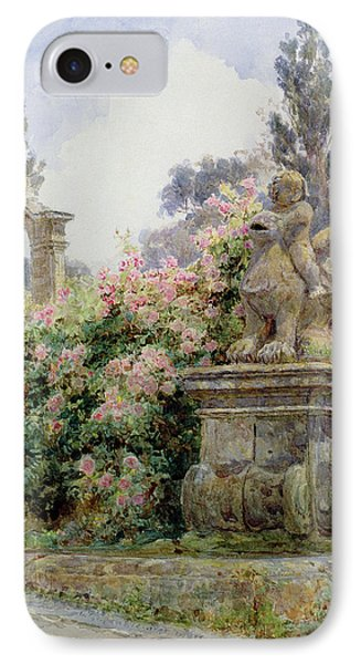 China Roses Villa Imperiali Genoa IPhone Case by George Samuel Elgood