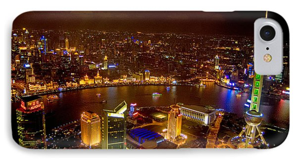 Shanghai iPhone 7 Case - China Shanghai At Night  by Anonymous
