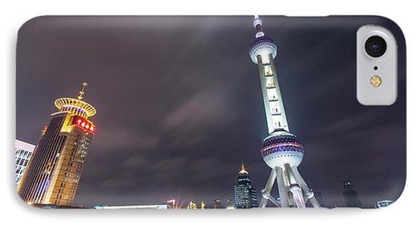 China, Shanghai, Oriental Pearl Radio IPhone Case by Paul Souders