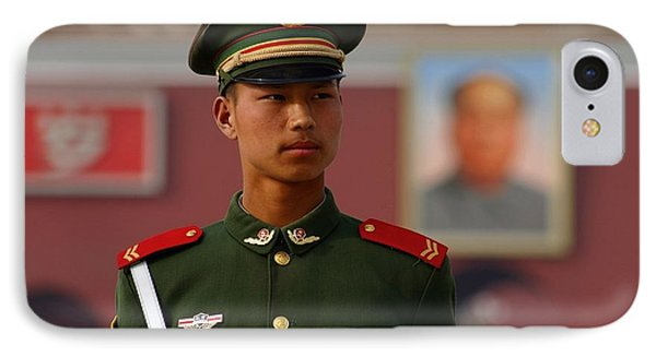 IPhone Case featuring the photograph China Soldier by Henry Kowalski
