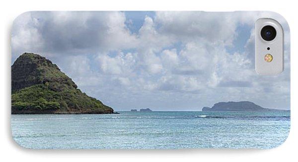 Chinamans Hat Panorama - Oahu Hawaii Phone Case by Brian Harig