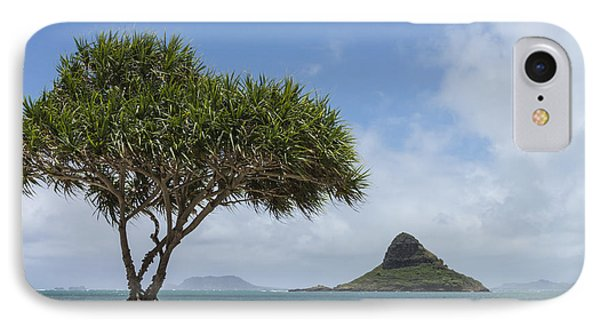 Chinamans Hat With Tree - Oahu Hawaii Phone Case by Brian Harig