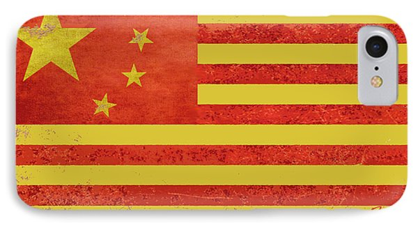 Chinese American Flag Phone Case by Tony Rubino