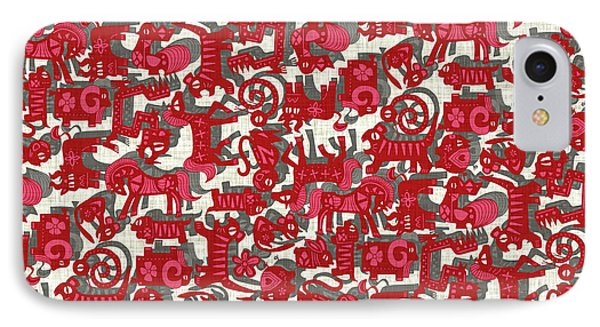 Chinese Animals Red IPhone Case